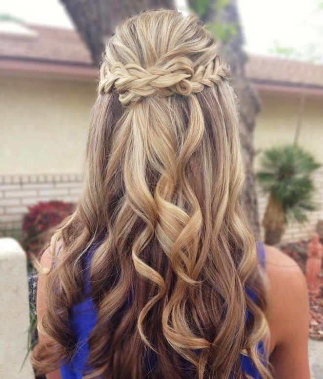 Braids and knot half up half down hairstyle