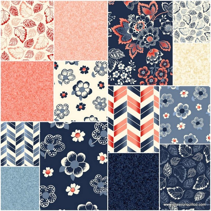 French Navy 10 Squares Studio 8 Quilting Treasures Quilts Quilting Treasures Precut Quilts
