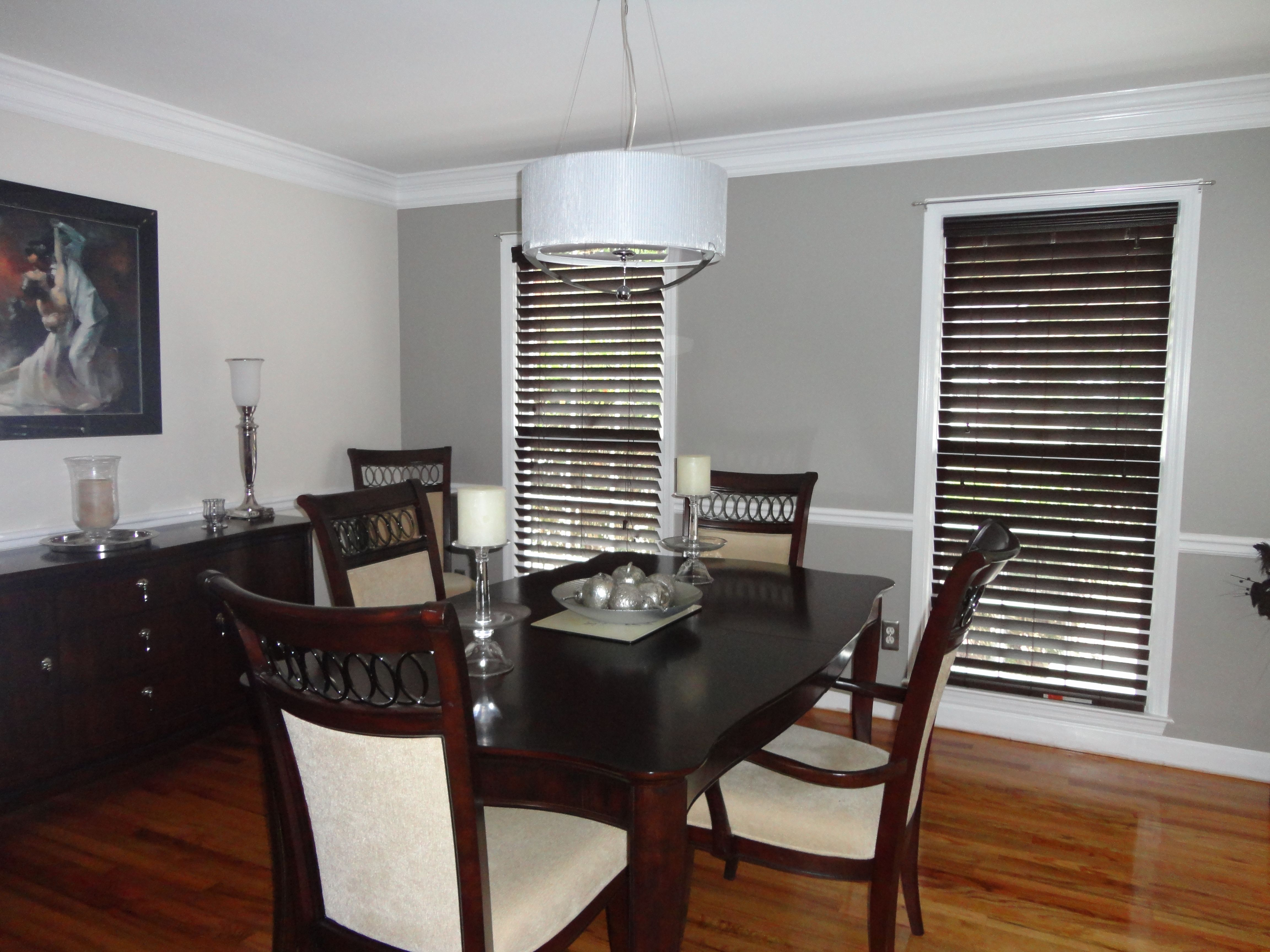 Our Dining Room Grey wall color, Home decor, Home