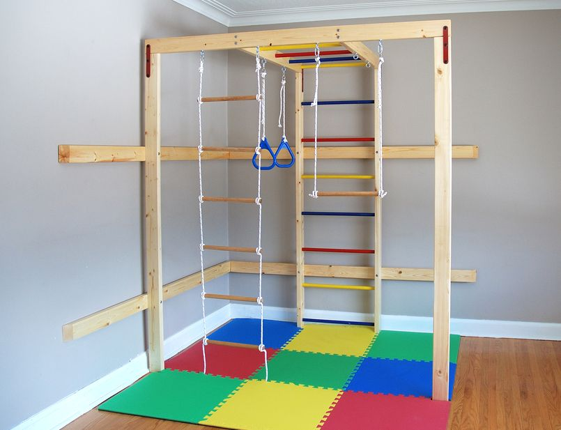 Diy home jungle gym for kids wood sold separately for Wooden jungle gym plans