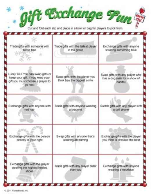 Exceptional Fun Family Christmas Gift Exchange Ideas Part - 13: Fun Christmas Printable Games For You- Gift Exchange