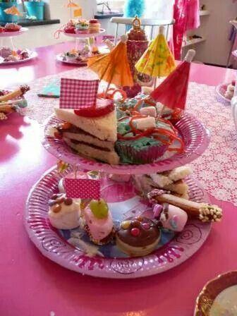 Onwijs Kinder high tea (met afbeeldingen)   Kinderfeestje, High tea ZP-11