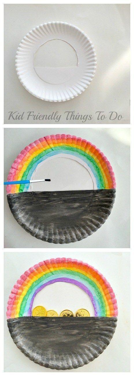 A Simple Paper Plate Pot of Gold St. Patrick\'s Day Craft   Platos de ...