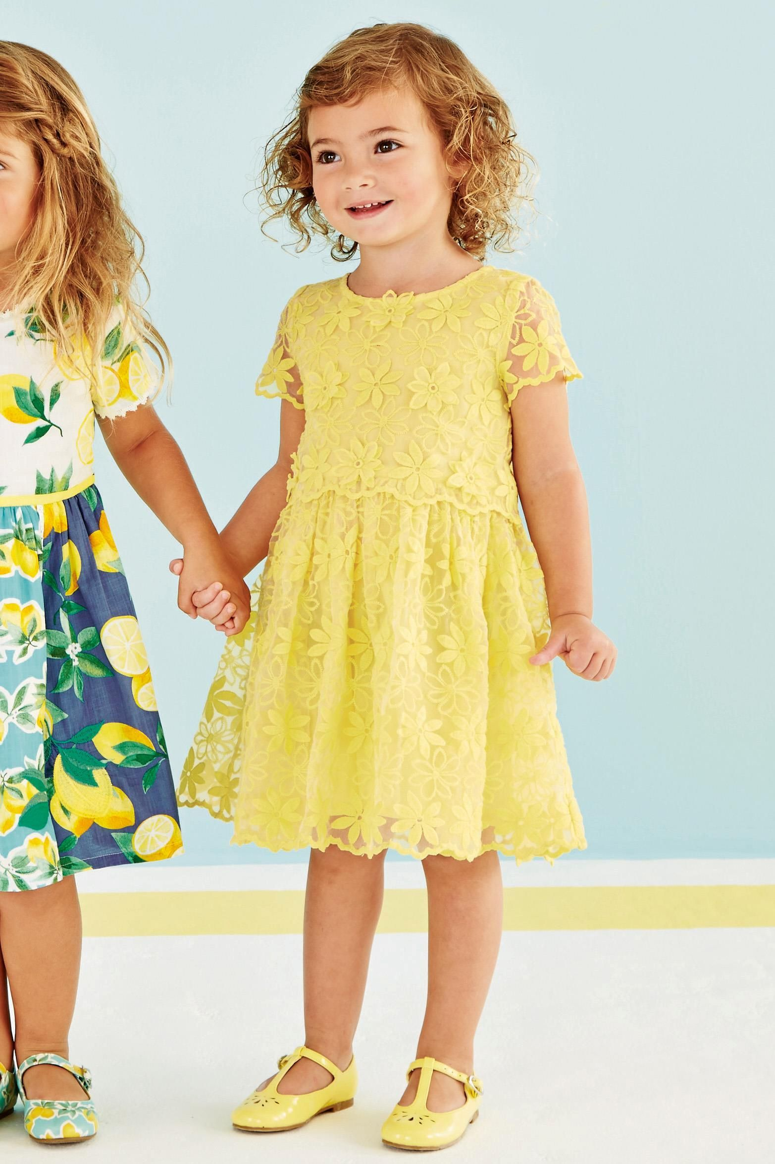 Buy Yellow Lace Dress 3mths 6yrs From The Next Uk Online Shop
