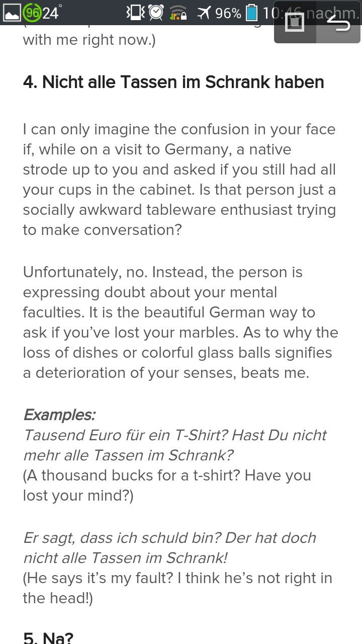 Confused Deutsch