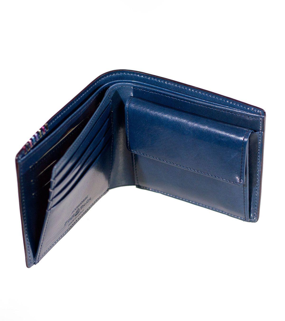 二つ折り財布 カード段13 オイルコードバン フォール No.614606   FUJITAKA公式サイト