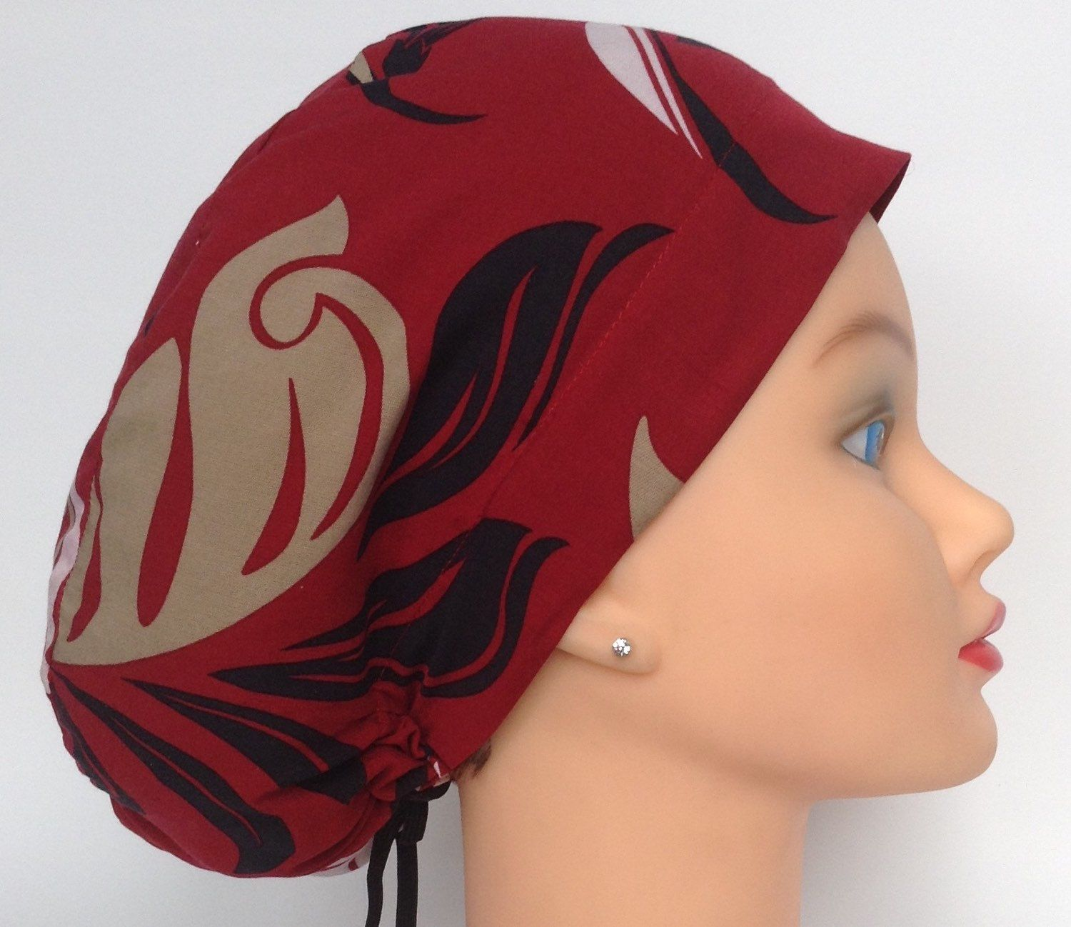 A personal favorite from my Etsy shop https://www.etsy.com/listing/245619692/womens-demi-bonnet-mini-surgical-scrub