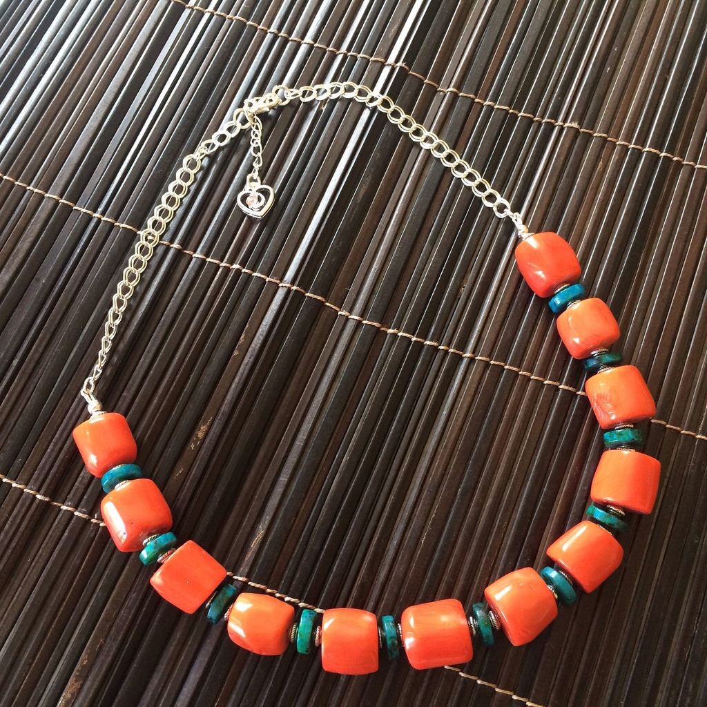 Stunning coral and gemstone necklaces - new stock part of our statement rock range at Luxiere. Hope you like them #fashion #style #jewellery #jewelry
