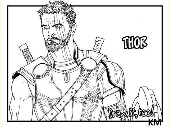 Thor Ausmalbilder Superhelden malvorlagen Lustige