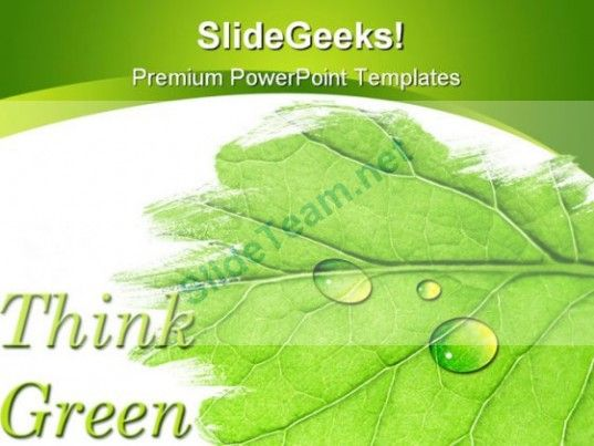 Think Green Nature PowerPoint Template 1110 #PowerPoint #Templates - nature powerpoint template