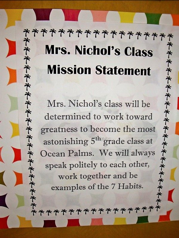 Class Mission Statement Third Grade  Google Search   Pinteres