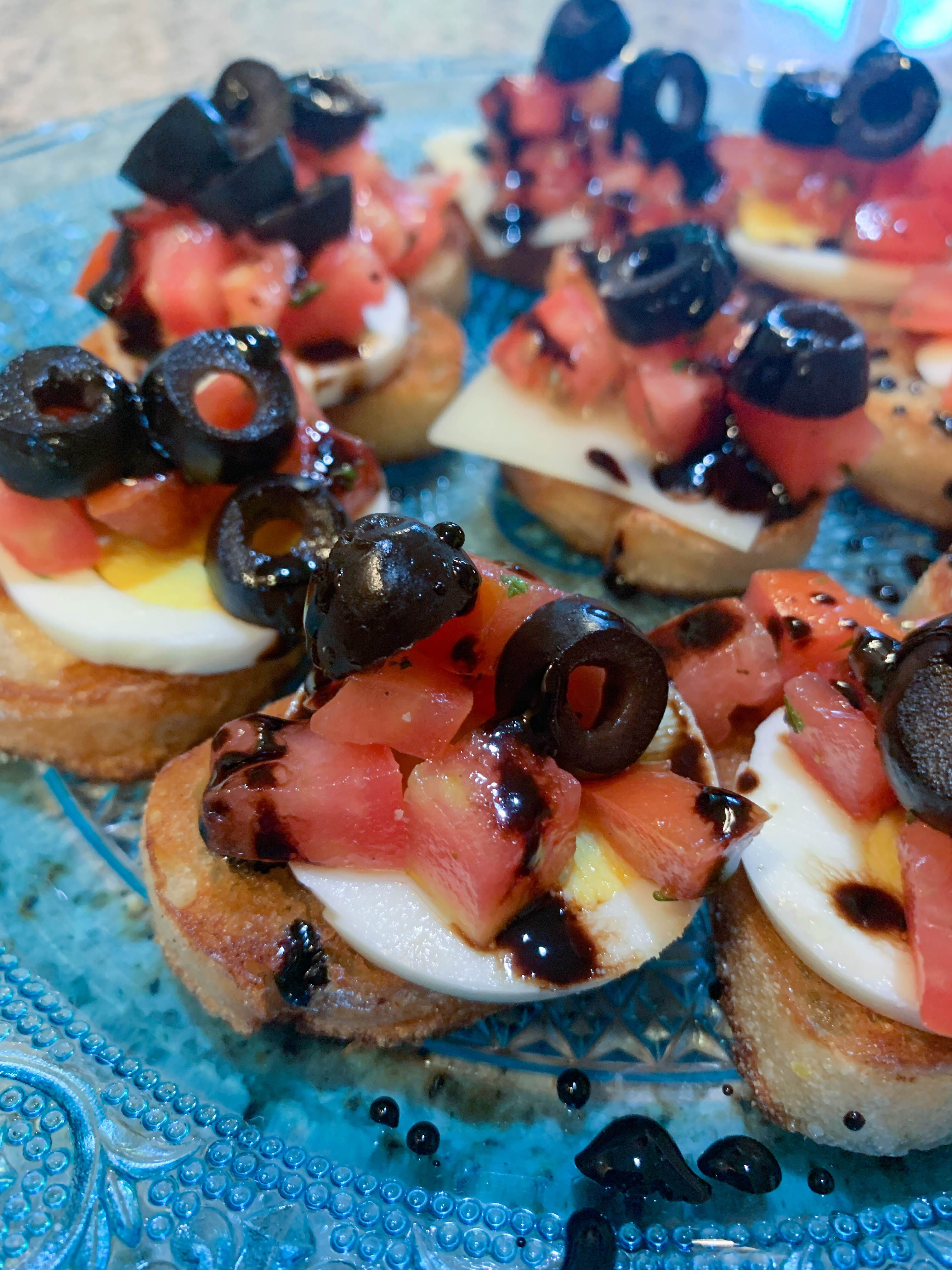 Bruschetta Canape's with Balsamic Glaze - Diaries of a Home Cook