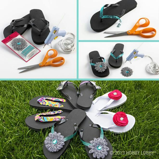 6523a52c6 Hobby Lobby ideas for customizing flip flops! Opening Soon at Heritage Mall,  Albany, Oregon.