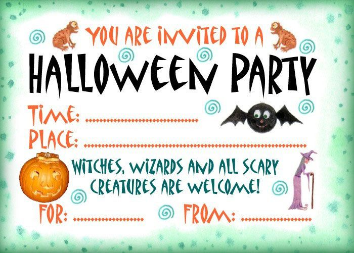 graphic regarding Printable Halloween Birthday Invitations referred to as Absolutely free Printable Halloween Invites Cost-free Down load