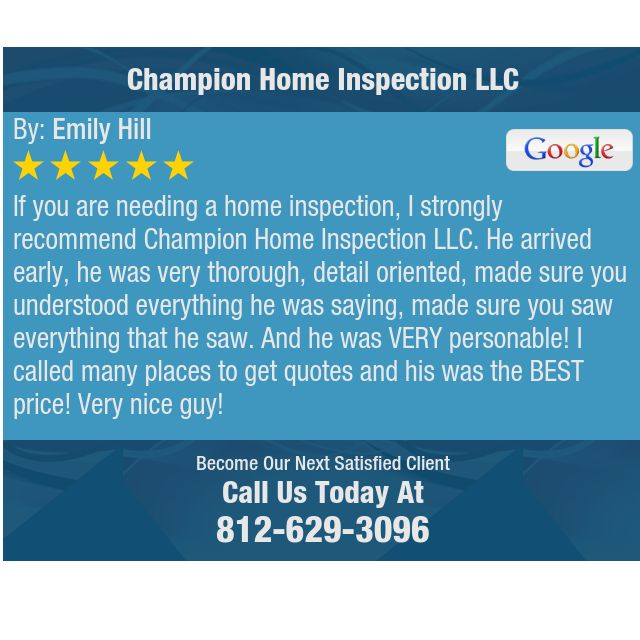 If You Are Needing A Home Inspection I Strongly Recommend
