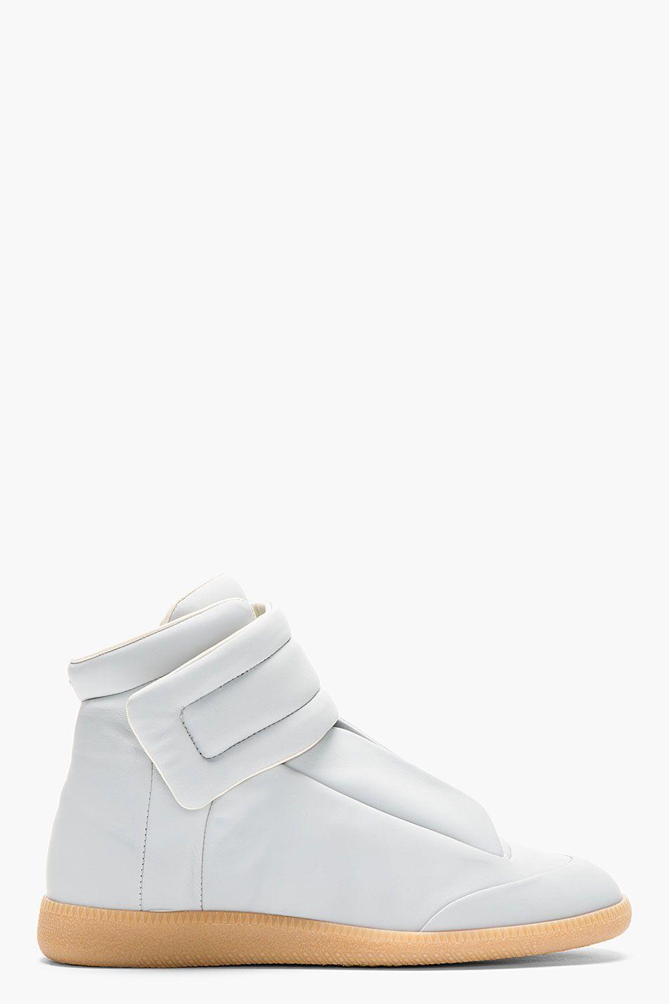 Maison Martin Margiela Light Grey Leather Future High top Sneakers