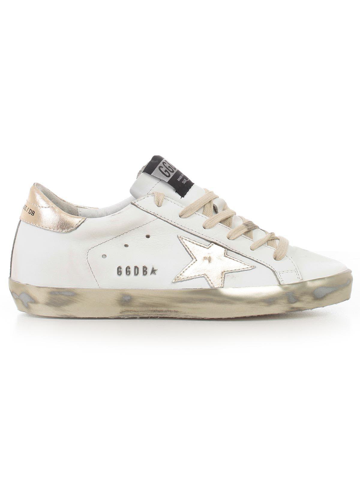 Golden Goose Deluxe Brand Superstar Sneakers In White Gold Star Modesens Golden Goose Sneakers Outfit Golden Goose Deluxe Brand Golden Goose Sneakers
