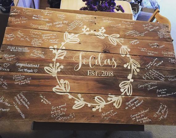Wedding Guestbook Alternative – Wooden Wedding Guest Book – Rustic Guestbook – Barn Wedding Decor