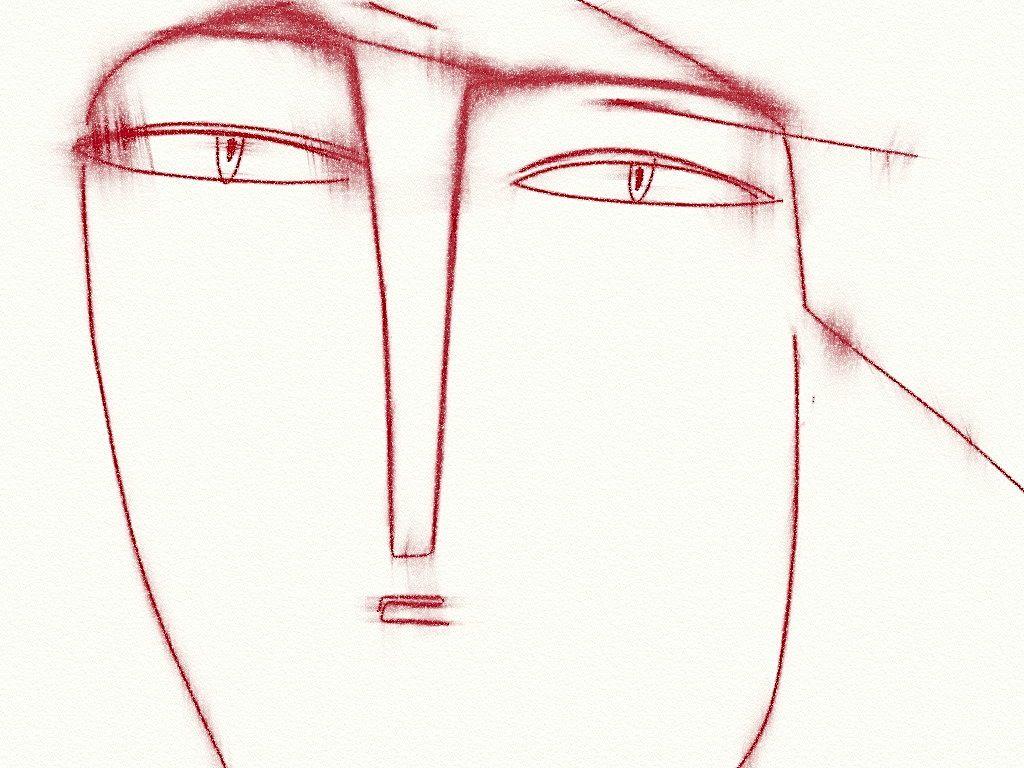 """Philippe Lareau-Vaillancourt """"Visage aux lignes rouges"""" http://philippelareauvaillancourt.blogspot.ca/"""