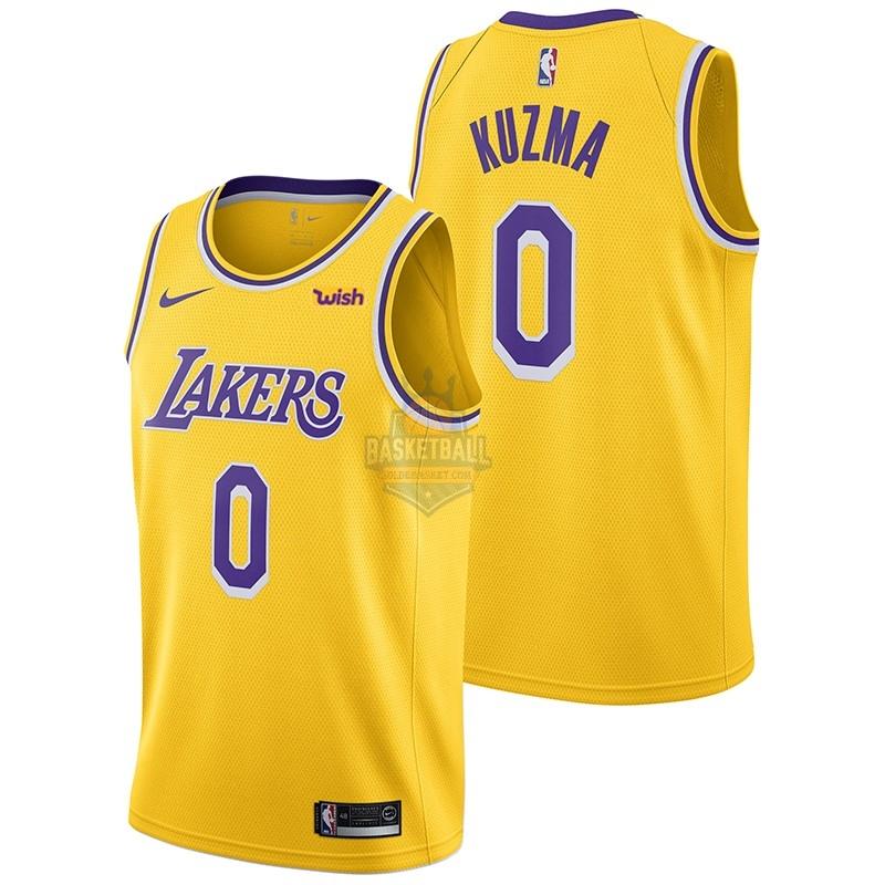 Maillot Nba Los Angeles Lakers No 0 Kyle Kuzma Jaune 2018 19 In 2020 Los Angeles Lakers Nba Los Angeles Kyle Kuzma