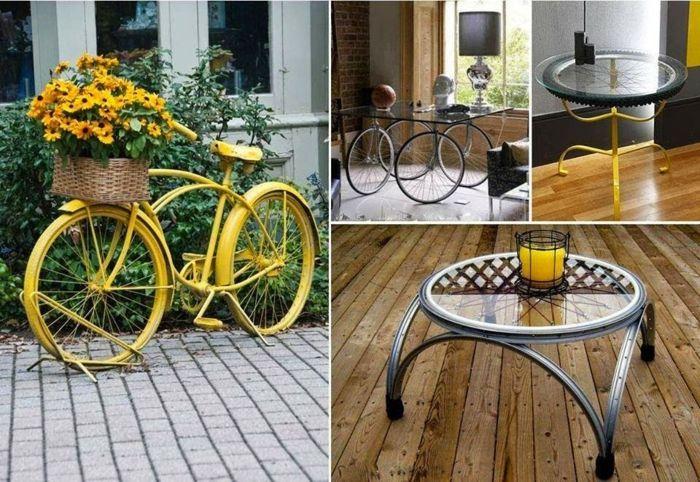 gartenideen mit fahrrad diy günstige gartengestaltung, Garten ideen