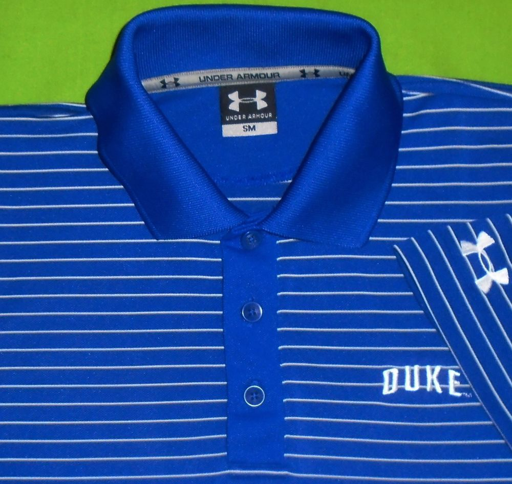 8bae1c95 Under Armour UA HeatGear Stretch Polo Shirt NCAA Duke University S/S Men  Small #UnderArmour #PoloRugby