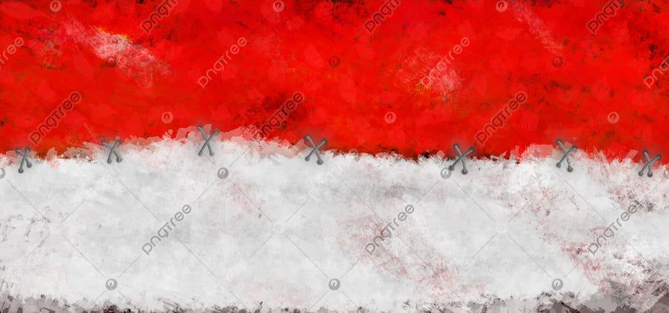 Watercolor Indonesian Flag Bendera Indonesia Merah Putih Handdrawn Indonesian Flag Bendera Indonesia Background Design Vector Background batik merah putih hd