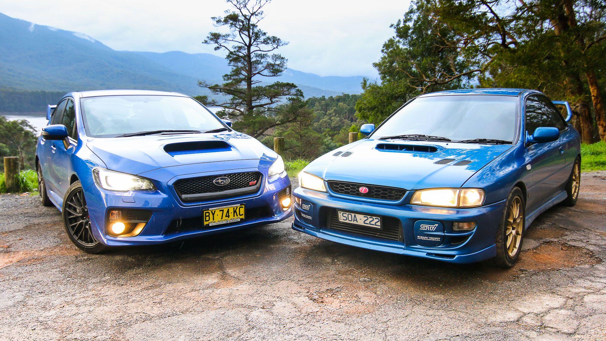 Subaru wrx sti comparison 2015 sedan v 1999 two door http