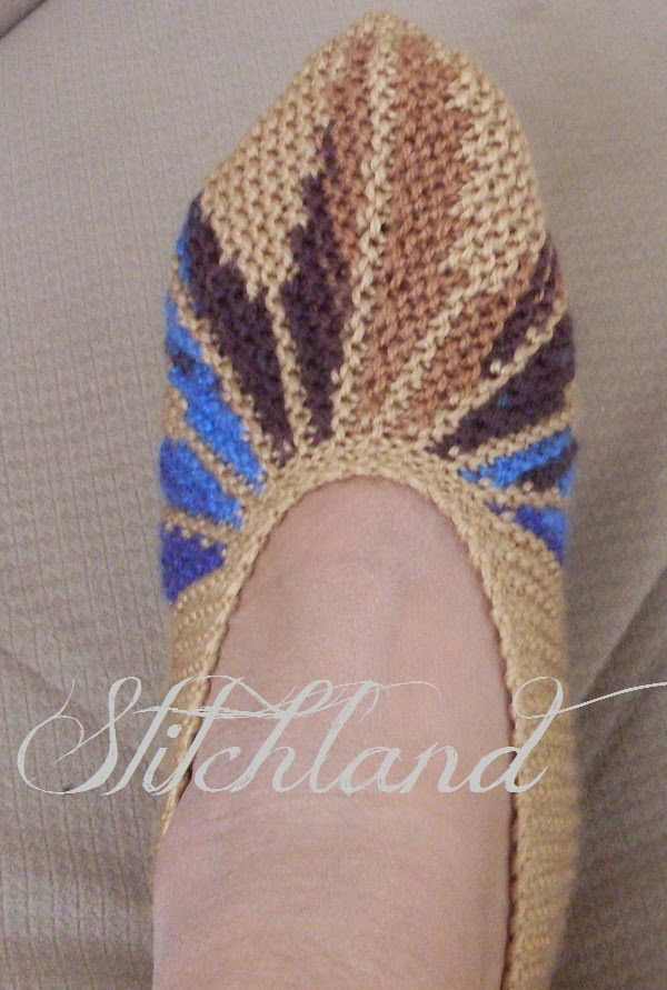 Stitchland Leaf Slippers English Pattern At Bottom Of