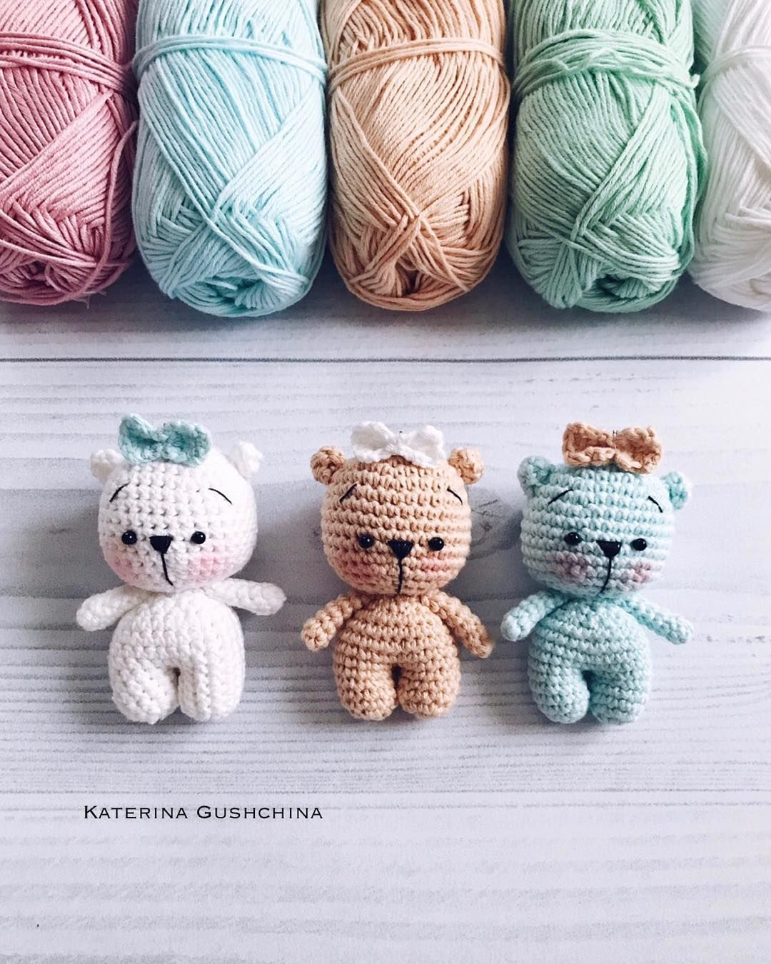 Tiny teddy bear crochet pattern #amigurumis