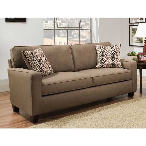 Sofab Riley Beige Nutmeg Sofa With Two Reversible Accent Pillows Interesting Sam's Club Decorative Pillows
