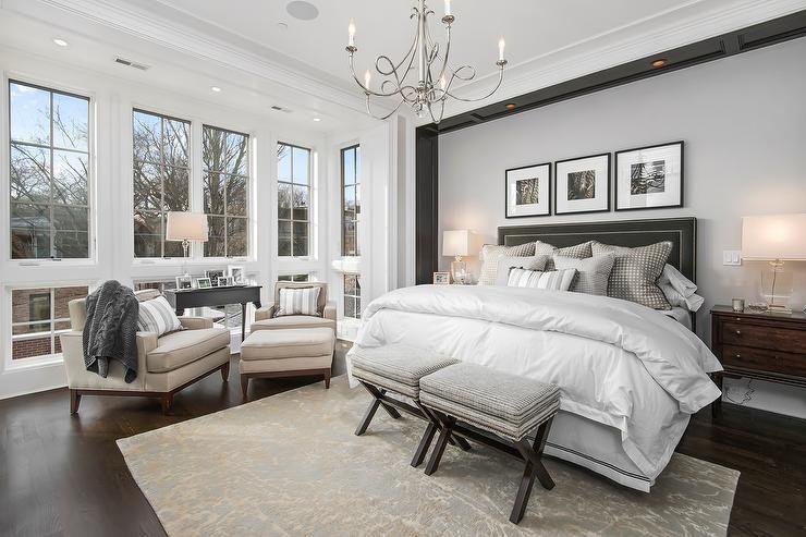 Master Bedroom Headboards 20 master bedroom designs with chandeliers | gray bedding, nooks