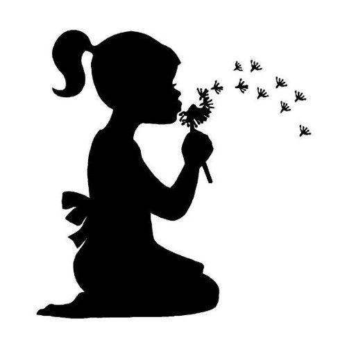 Little girl blowing dandelions wall art wall designs Epic ...