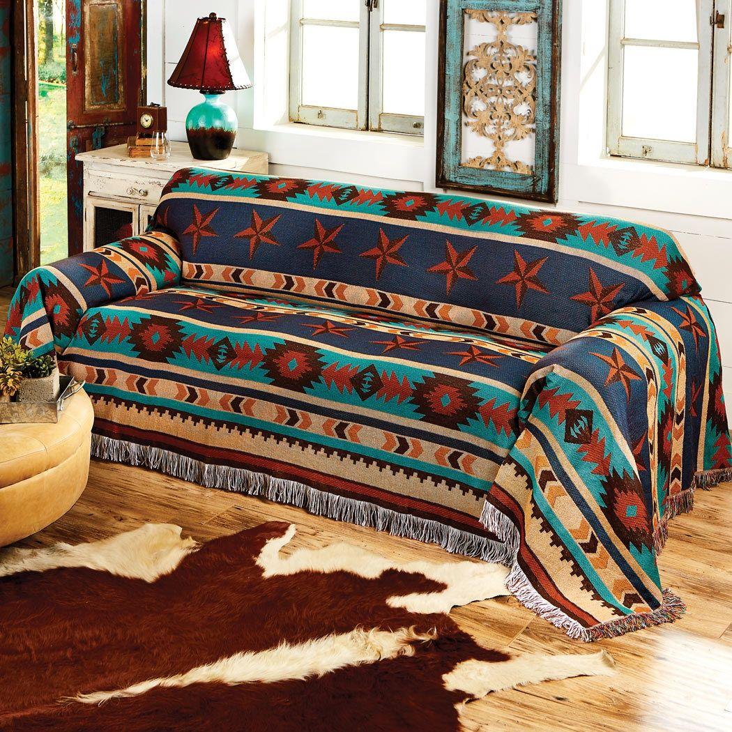 Turquoise Desert Sofa Cover