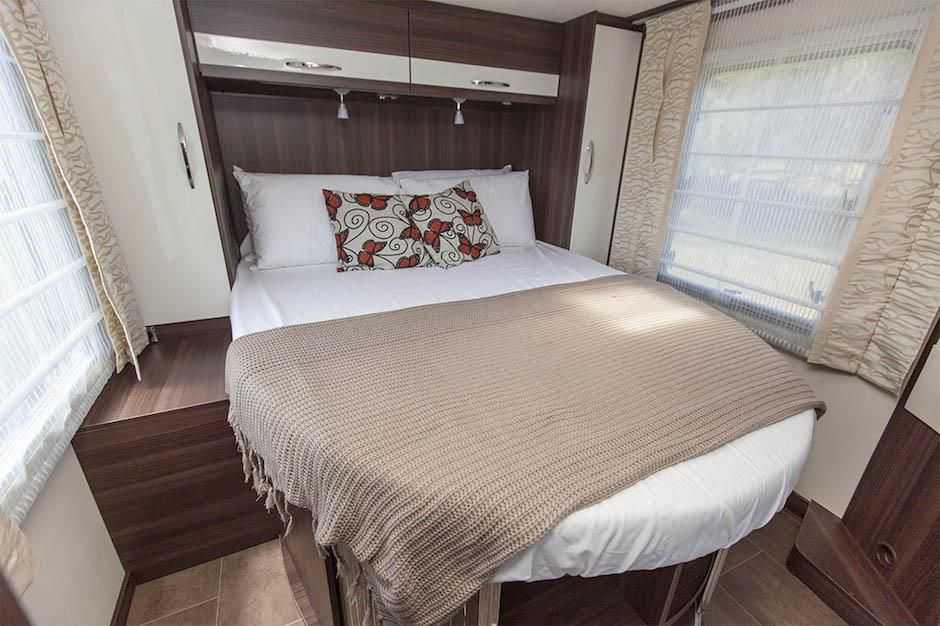 Inside The Burstner Nexxo T740 European Motorhome For Sale Bed Island With