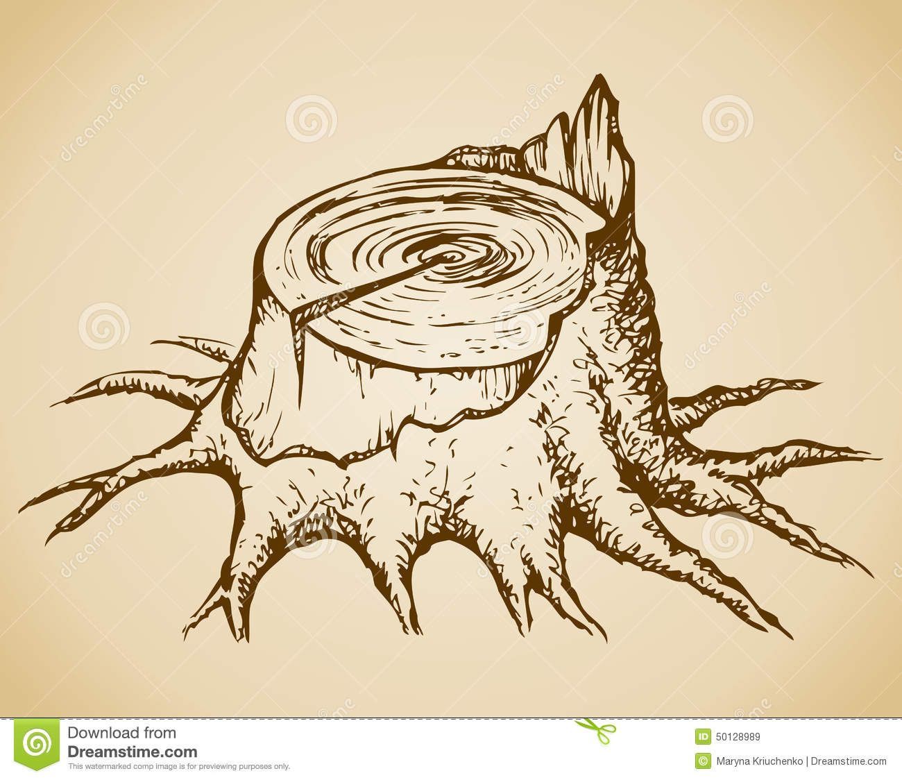 How to draw a cartoon tree stump step by step - Free & Easy ...