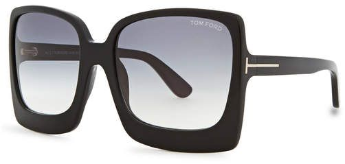 7459e09e2 Tom Ford Katrine Black Square-frame Sunglasses in 2019 | Products ...