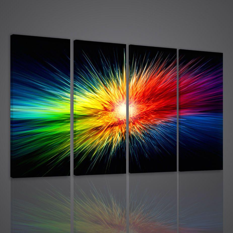 Quadri moderni xxl explosion of colors arredamento casa ufficio ...