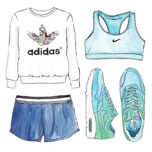 - Oggetti, La Sportiva Edizione.Adidas Nike Acquerello