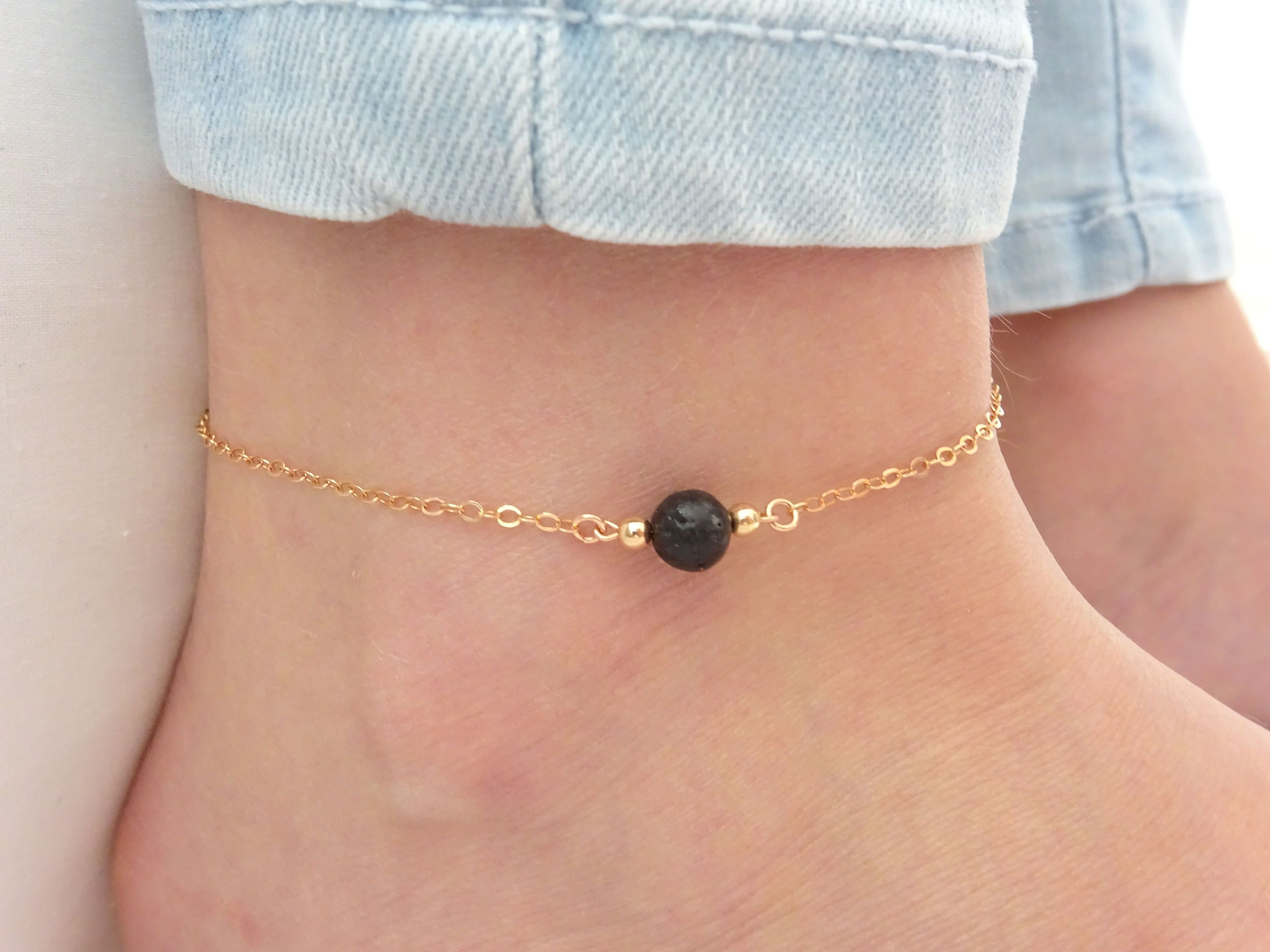 chain chains golden with and pin ear gold line anklet cluster