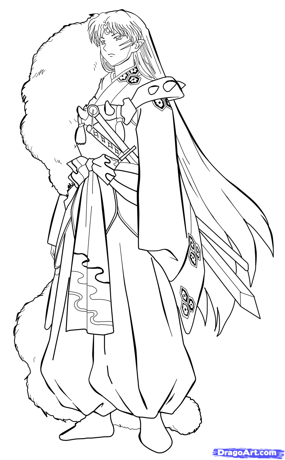 How To Sketch Sesshomaru Inuyasha Sesshomaru Step 8 1 000000142399 5 Png 932 1500 Anime Character Drawing Anime Boy Sketch Cute Coloring Pages