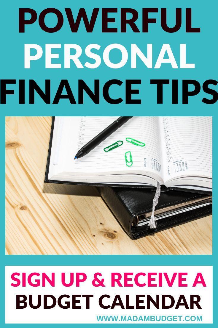 Free budget calendar personal finance articles