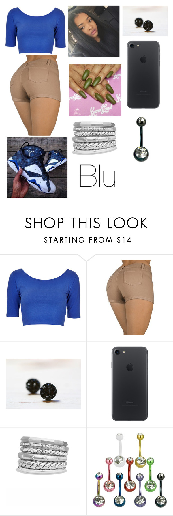 """""""Blu"""" by ceciliawilliams ❤ liked on Polyvore featuring Topshop and David Yurman"""