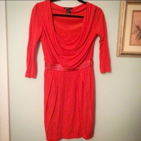 Mango Coral Dress--Medium Mango Coral Dress--Size Medium Mango Dresses Midi