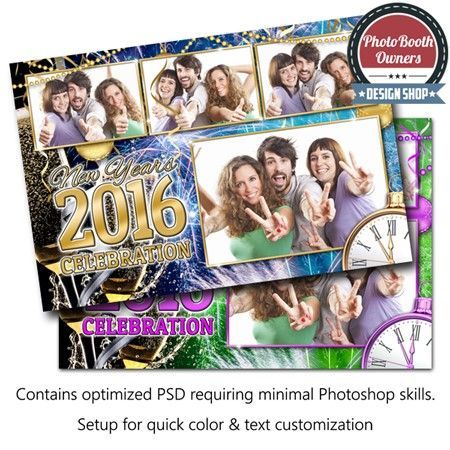 an eye popping new year theme photo booth template perfect for the most memorable and celebrated time of the year this template features toasting champagne