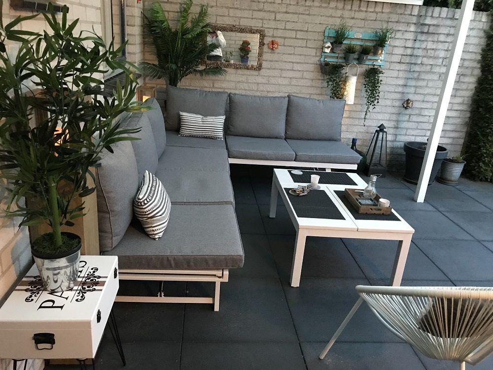 Modernes Verstellbares Lounge Set Mit Hohenverstellbarem Lounge Esstisch Aus Aluminium Gartenmobel Loungese Gartenmobel Gartenmobel Sets Terrassengestaltung