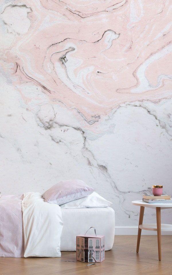 Unsere Pink U0026 White Marbleized Mural Macht Eine Elegante Funktion In Jedem  Anspruchsvollen Wohnraum Und Arbeitet Perfekt In Diesem Entzückenden Nuru2026