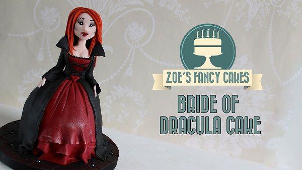 Halloween cake tutorial Bride of Dracula doll cake.