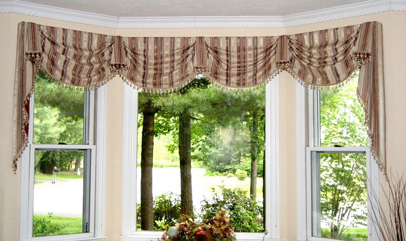 This window valance is called a French pickup, and it\'s the perfect ...