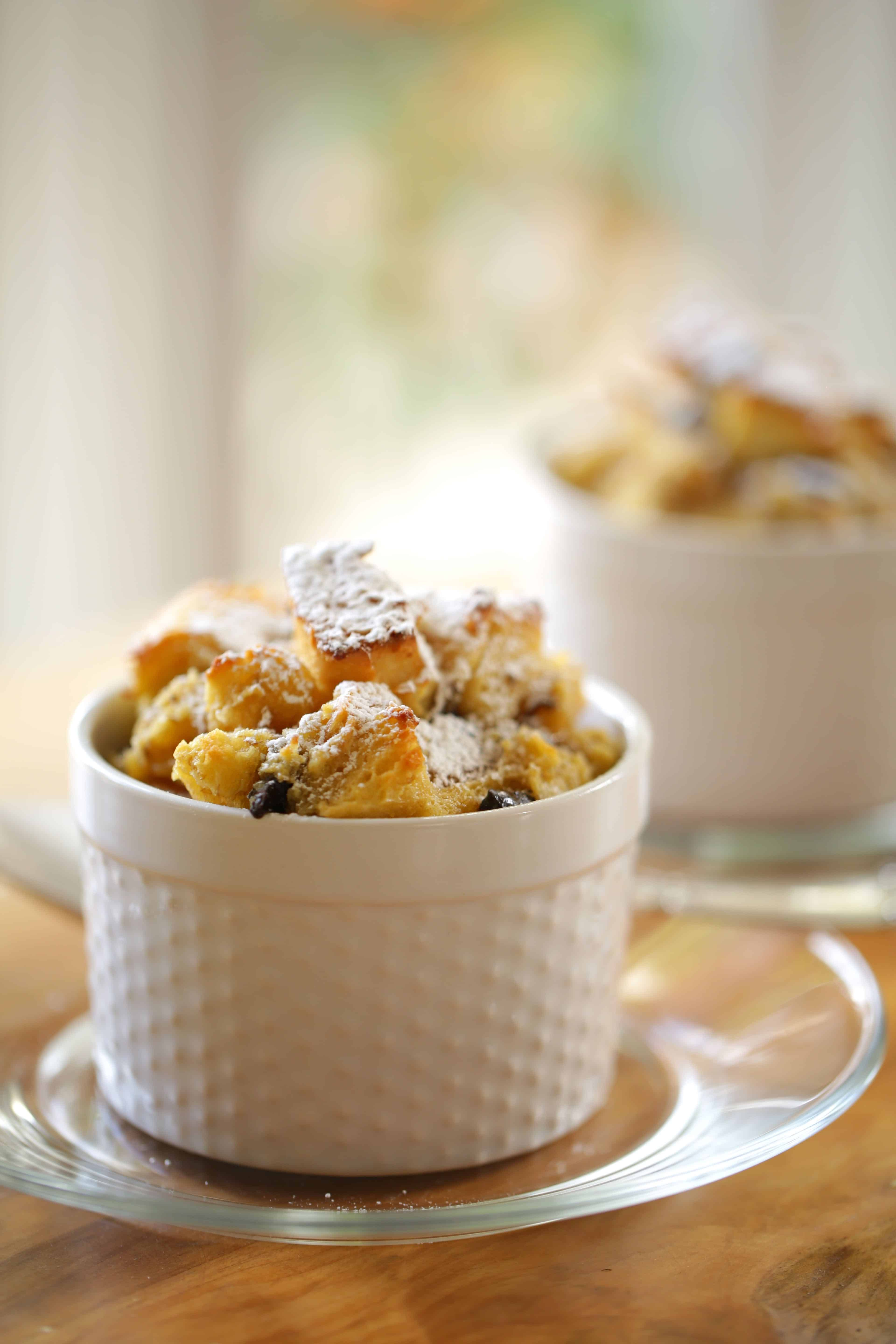 Banana Bread Pudding With Chocolate Chips Recipe Dessert